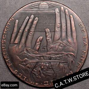 Palestine-Dead-Sea-Manuscripts-Qumran-Caves-1947-Big-Palestinian-Medal-Replica