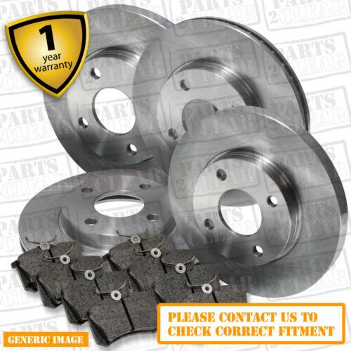 Renault Megane 2.0 16V Front Rear Brake Pads Discs Set 280mm 240mm 150 02-08 CC