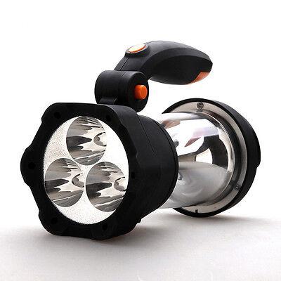VonHaus 4in1 Dynamo 3 LED Spotlight Torch 10 LED Lantern Wind Up Camping Light