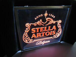 New Stella Artois Belgium Opti Led Neo Neon Beer Sign Light Bar Man