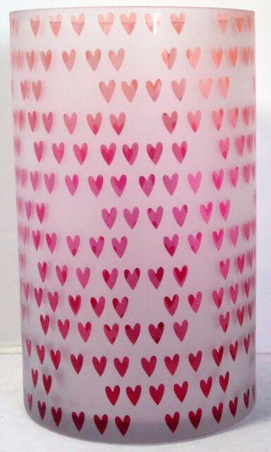 New Yankee Candle Dreaming of Love Hearts Votive Holder Valentine/'s Day Red Pink