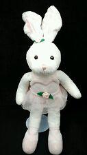 "Twinkle Toes Ballerina Bunny Rabbit Pink Rose TuTu Gund Plush 17"" Lovey Toy"