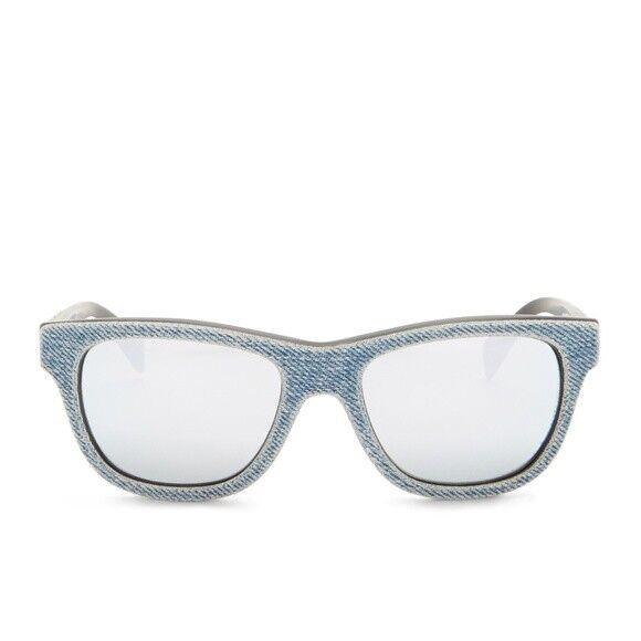 80e0010b91 Diesel Sunglasses Dl0111 Acetate Blue Denim Square Unisex Wayfarer for sale  online