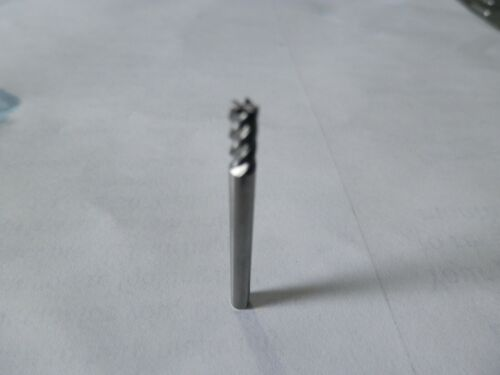"""1//8/"""" 5 Flute Solid Carbide High Quality End Mills 1 1//2/"""" OAL 1//4/"""" LOC .030CR"""