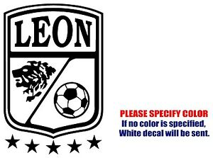 LEON Mexico Soccer Football JDM Vinyl Decal Sticker Car Window - Soccer custom vinyl decals for car windows