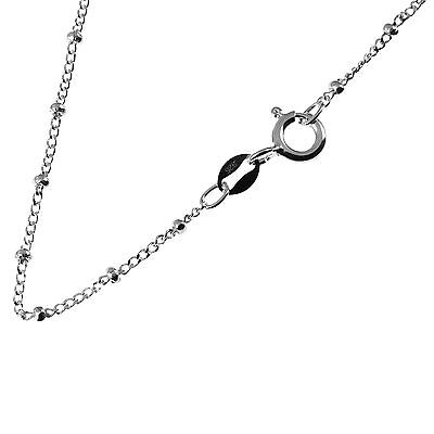 """Sterling Silver Ball Bead Chain Necklace /""""GENUINE 925/"""" All Sizes Available NEW"""