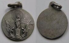 BONITA MEDALLA RELIGIOSA ANTIGUA DE N. SRA DEL PILAR . PLATA . 1,2 gramo/14 mm