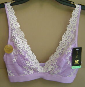242e97b805b88 NWT WACOAL 34 EMBRACE LACE WIRE FREE CONVERTIBLE BRA Lavender Purple ...