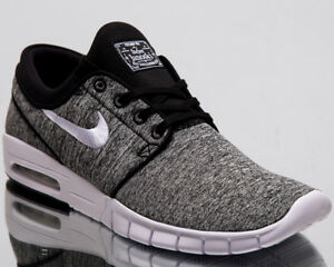 65eea796b7efa Nike SB Stefan Janoski Max Men New Black White Lifestyle Sneakers ...