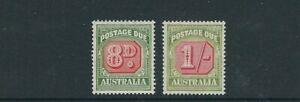 Australia-1946-57-Envio-Cuotas-Scott-J79-J80-8d-Y-1sh-VF-MNH