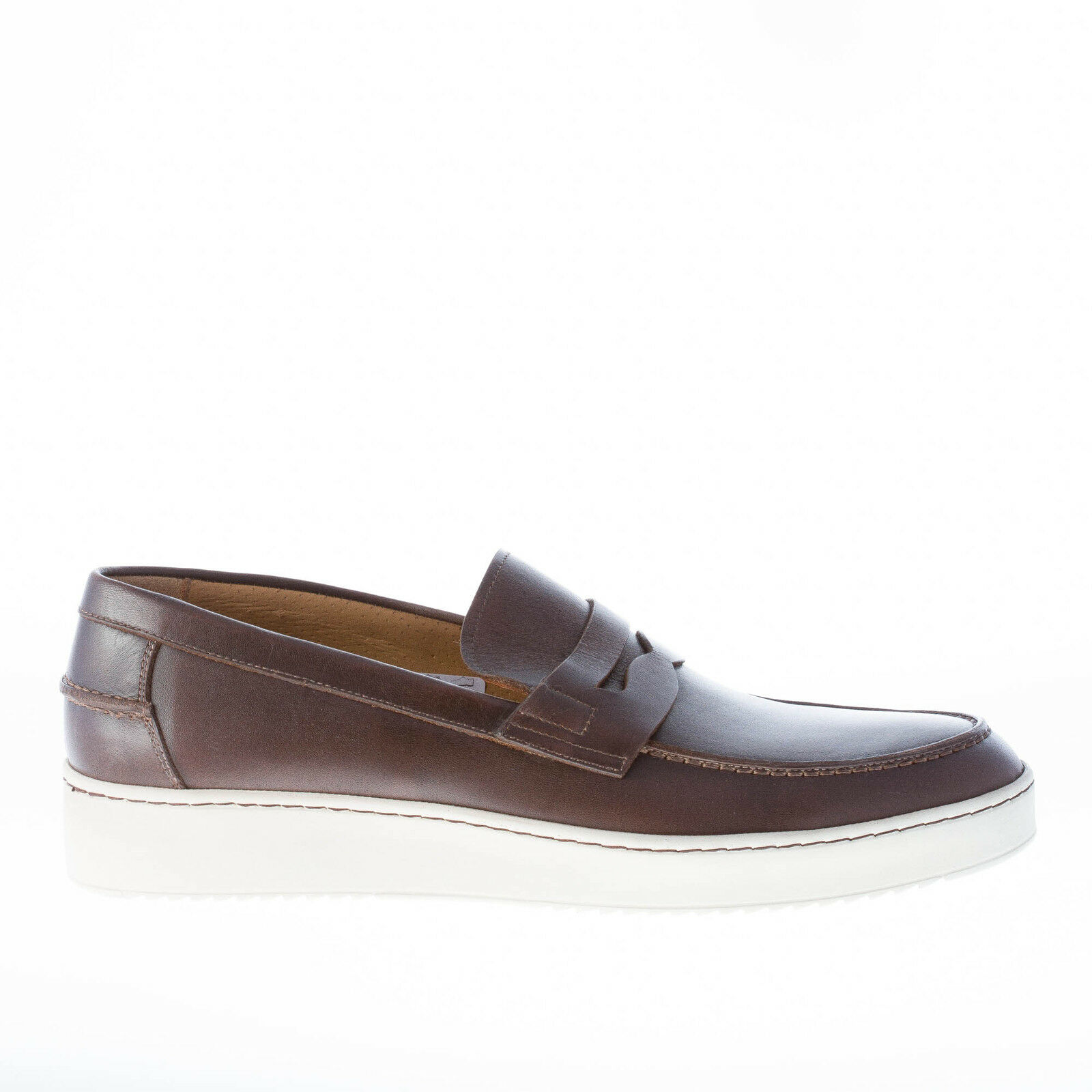 ROSSI chaussures homme Hommes chaussures marron cuir penny loafer