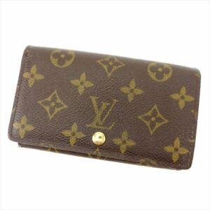 Louis-Vuitton-Wallet-Purse-Monogram-Canvas-Brown-Woman-Authentic-Used-T8330