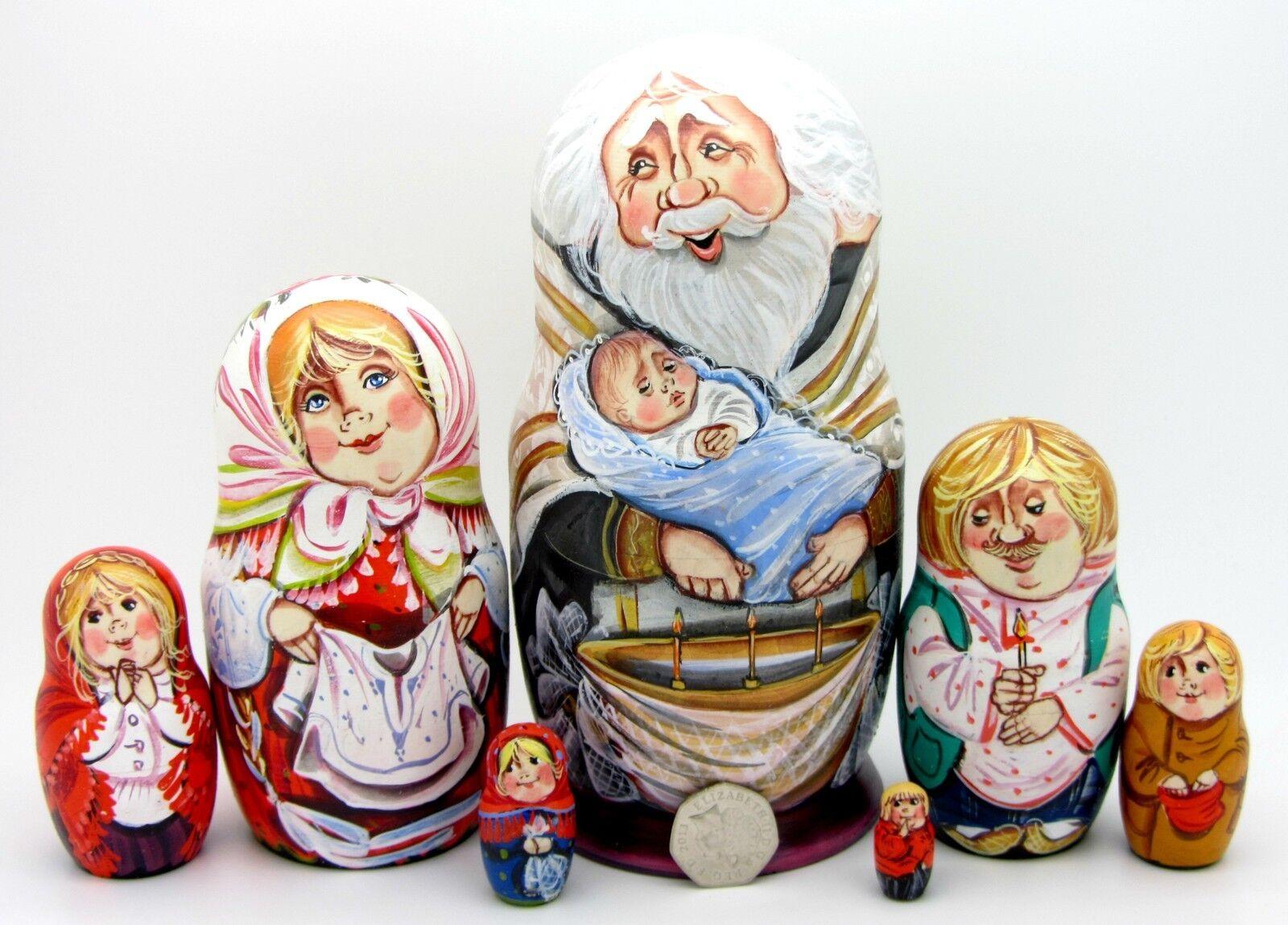 Matriosca Russa Bambole Battesimo in Dtuttia Russia  Ortodosso Church 7 Sergeyeva  popolare