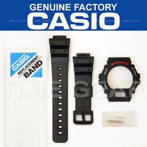 Détails sur CASIO Authentique G Choc Bande Noire et lunette Combo & broches barres pour DW 6900 DW 6600 afficher le titre d'origine
