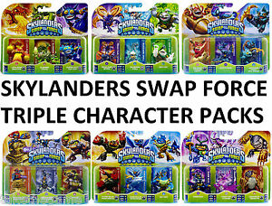 Skylanders-SWAP-FORCE-TRIPLE-Figure-Character-Packs-BNIP