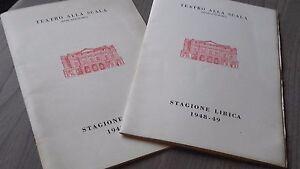 Programa Opera Teatro Alla Scala Temporada Lirica Pato Autonomo 1948-49