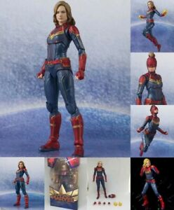 SHF-S-H-Figuarts-Avengers-Captain-Marvel-PVC-Action-Figure-Gift-Toys-New-In-Box
