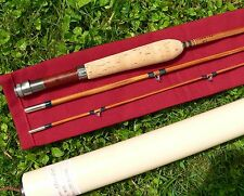 canne à pêche Bambou refendu mouche bamboo fly rod fishing cane split  no Hardy