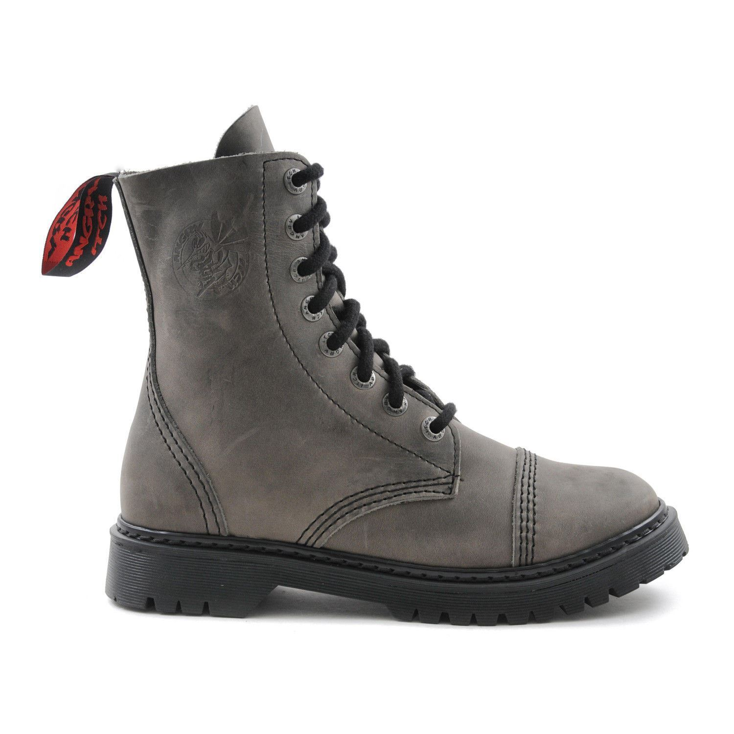 Angry Itch 8 FORI Punk Vintage grigia in pelle Army Ranger Boot suola di luce