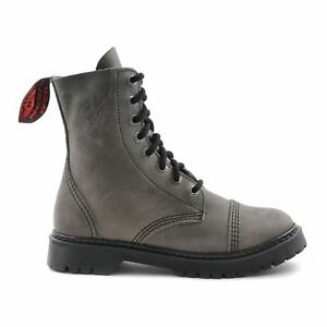 Light Leather Angry Vintage Ranger Boot Hole Sole Itch Army Grey 8 Punk YxYvrw