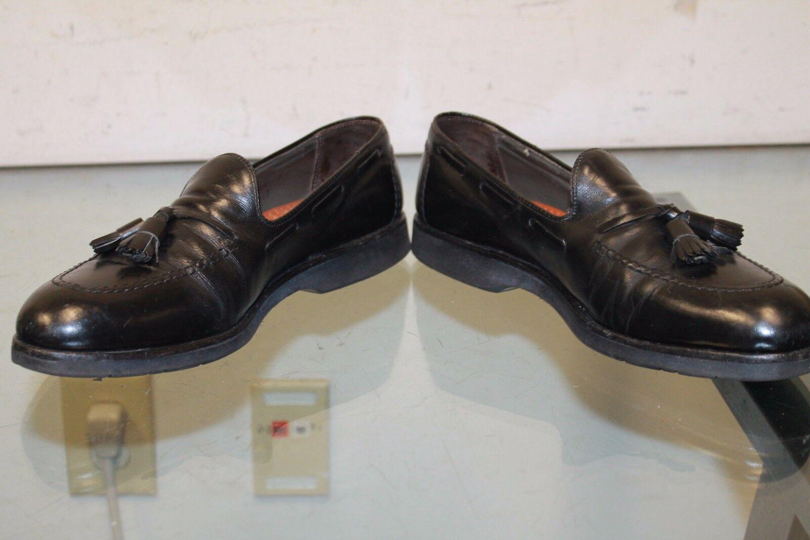 Bally Italia Doble Flecos Borla Mocasín Zapatos D Excelente Estado Usado Negro para Hombre