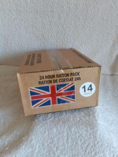 BRITISH 24HR RATION PACK MENU 14 PACK DATE 09//18 CAMPING,HIKING,AIRSOFT,FISHIN