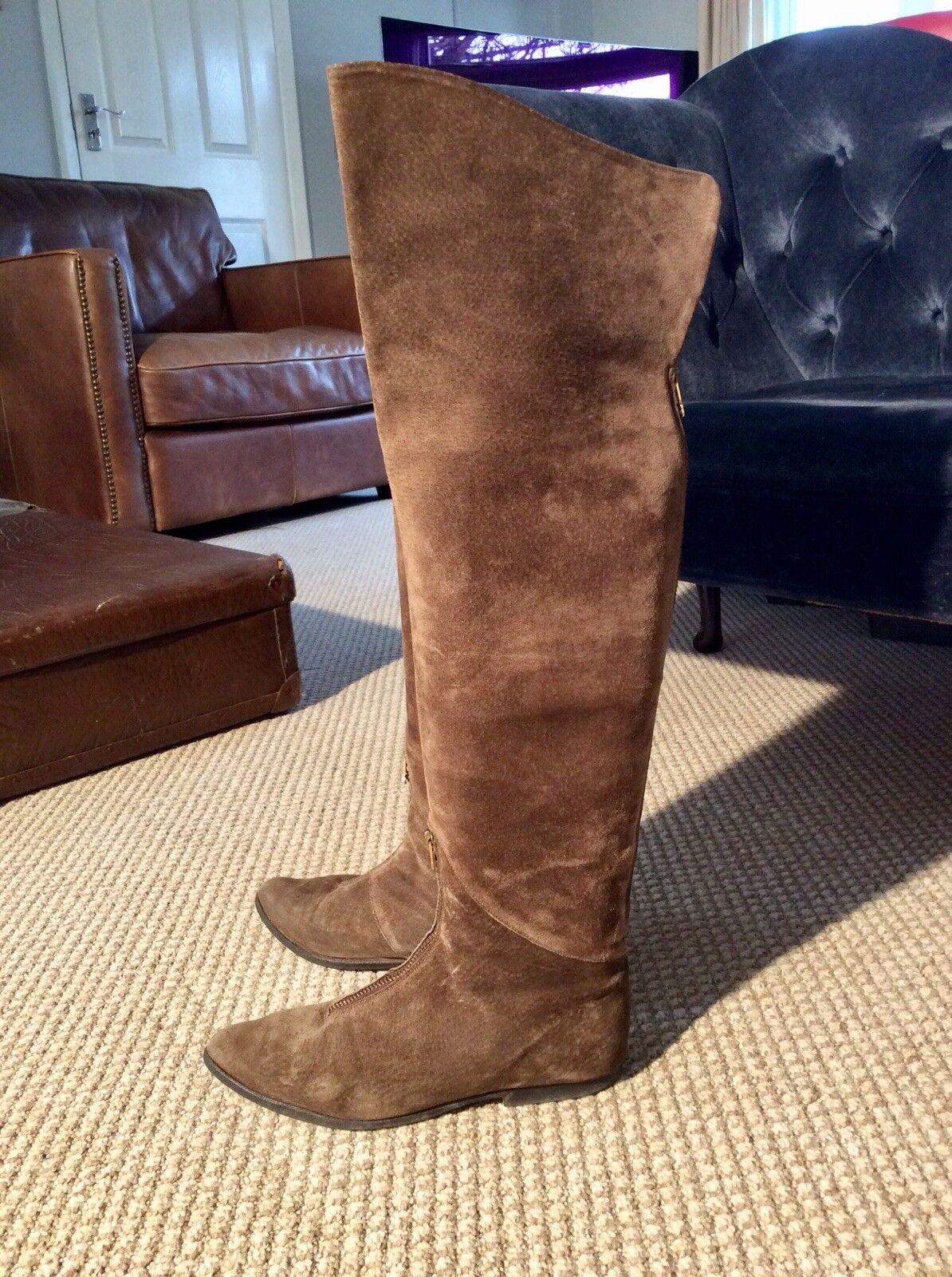 Stunning Stephane Kelian Suede Over Knee Boots US8 UK5