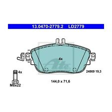ATE LD2779 Bremsbelagsatz, Scheibenbremse ATE Ceramic  13.0470-2779.2  Vorne
