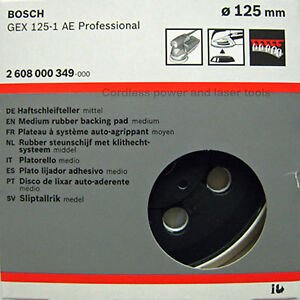 Bosch-GEX-125-1-AE-MEDIUM-Sanding-Pad-125mm-Rubber-Base-Plate-2608000349