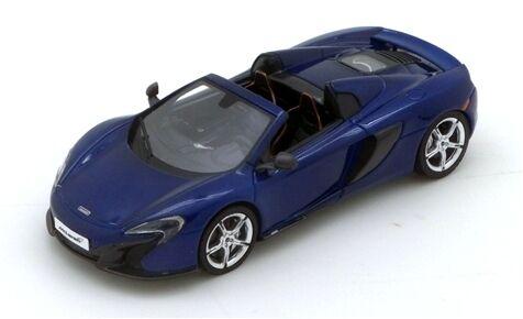 Mclaren 650 s spider volcano bluee 2015 1 43 true scale miniatures model