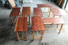 Vintage Science lab tables solid mahogany/iroko tops UK delivery School tables