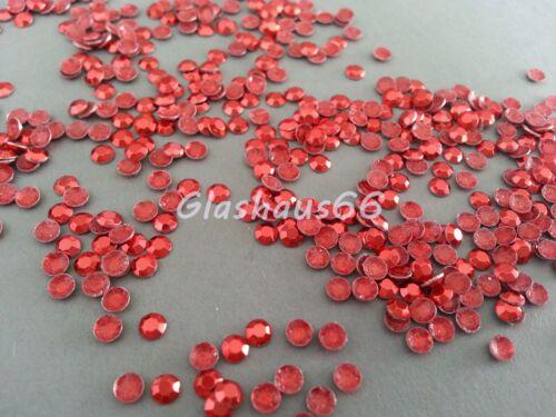 Nieten aus Metall 2000 Hotfix Studs *Rot* SS10 ~ 3mm Super Qualität