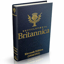 Encyclopædia Britannica - 11th Eleventh Edition - 1910/1911 -  29 Volumes on DVD