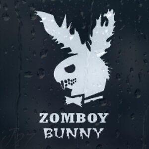 Funny-Zombie-Play-Boy-Parody-ZombBoy-Bunny-Car-Decal-Vinyl-Sticker
