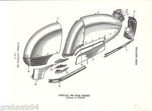 1941 42 46 47 48 49 Cadillac Rear Quarter Panel NOS Parts ...
