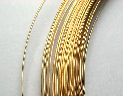 1 oz 14k GOLD FILLED Half Round Wire HH Half Hard