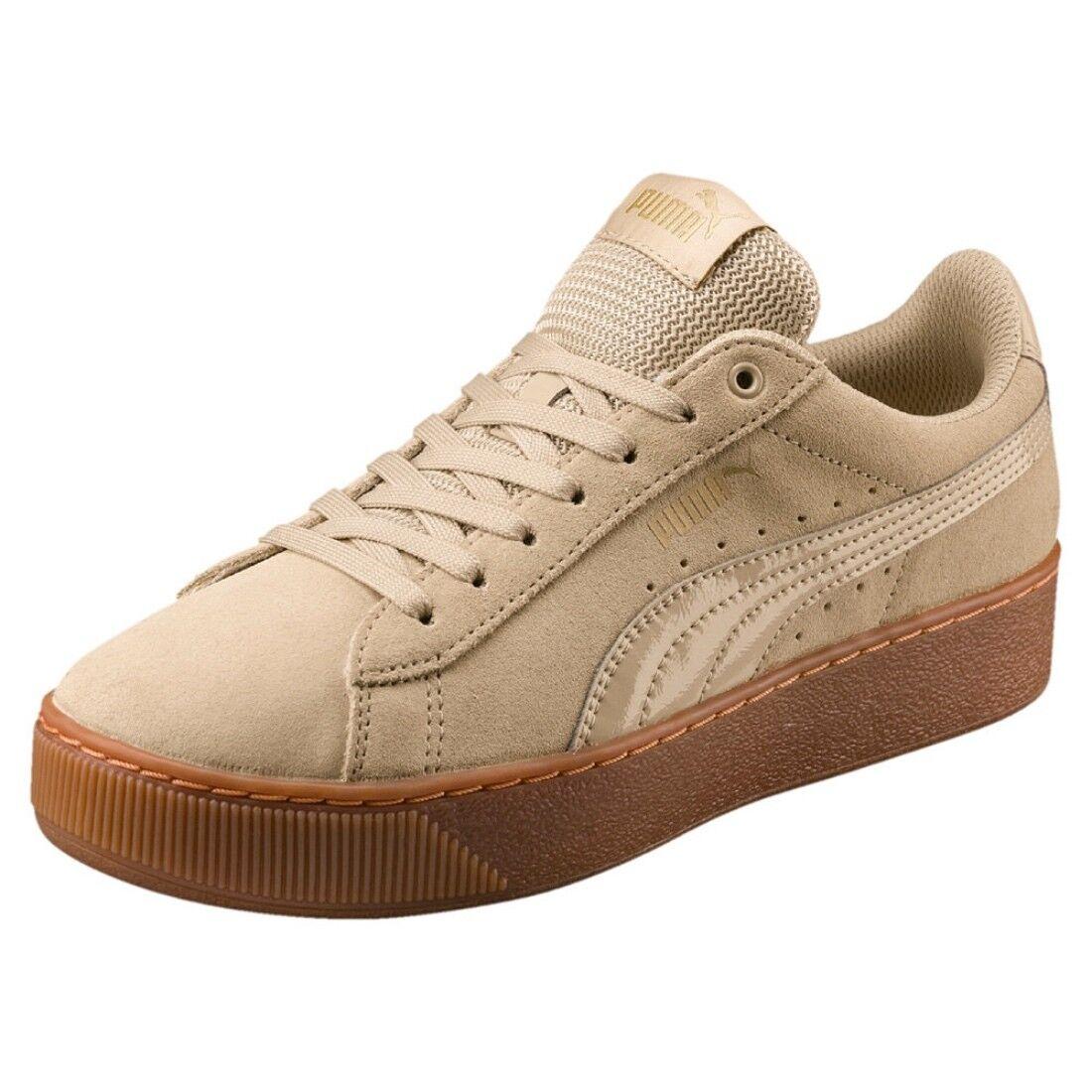 Puma Vikky Platform Basket Femmes Chaussures 363287 Pebble UK 3.5 - EUR 36
