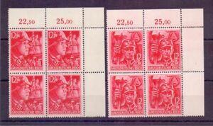 Deutsches Reich 1945-MINR 909/910 - eckrand - 4 erblock-Michel € 320,00 (432)