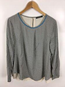 ESPRIT-Damen-Bluse-Shirt-Groesse-40-Mehrfarbig-mit-Muster-sehr-schick-und-fein