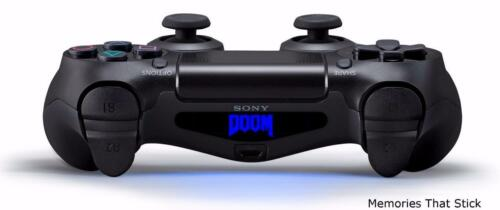 2 x DOOM PS4 PLAYSTATION CONTROLLER LUCE BAR Novelty Vinile Decalcomania Adesivi
