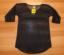 NWT Womens O'Neill Cobalt Black V-Neck Mesh Swim Cover Size M/L
