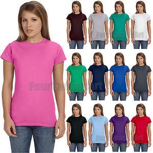 Gildan junior fit soft style t shirt womens tee s m l xl for Gildan t shirt styles
