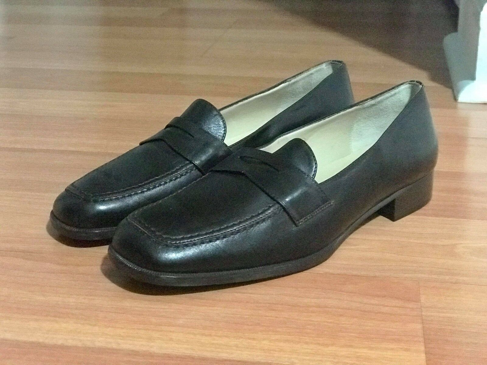 TALBOTS femmes marron Leather chaussures, Taille 8, NEW WOT chaussures tree not included ITALY