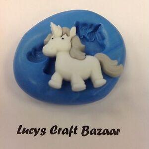 Silicone-Mould-Unicorn-Fairy-tale-Sugarcraft-Cupcake-Topper-Chocolate-Sculpey