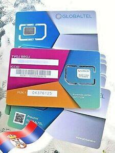 SERBIAN SIM CARD SERBIA BELGRADE GLOBALTEL ROAMING VOIP SIM OR ESIM available