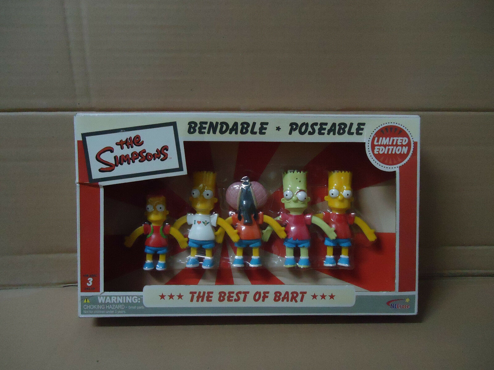 The Simpsons Bendable Poseable Figures The Best of Bart Homer statue figure rare