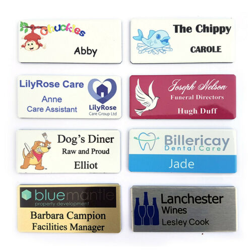 ROTATING CLIP /& PIN Staff ID Badge Childminder Support Secretary  /& Your Logo