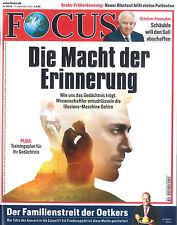 FOCUS Magazin - Heft 38/2016 vom 17.9.2016: Die Macht der Erinnerung + wie neu +