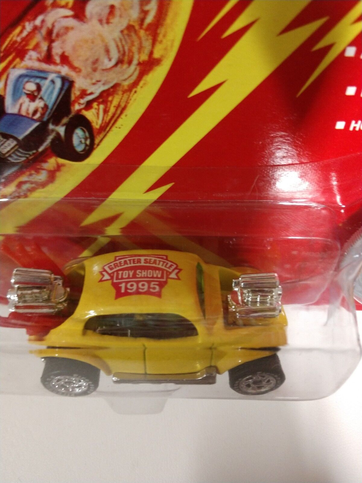 Johnny Lightning Seattle Toy Show Show Show Bug Bomb Rare Yellow c37289