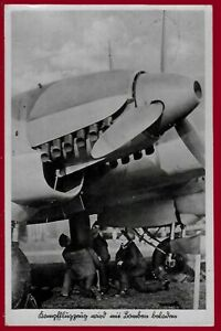 German WW 2 Third Reich postcard LUFTWAFFE Heinkel He 111 Feldpost  1940